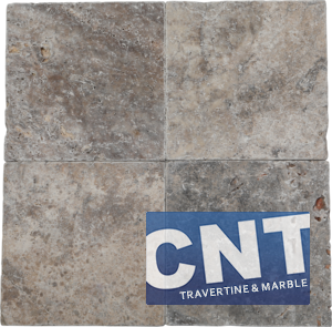 Silver Antique Tumbled Travertine DRY