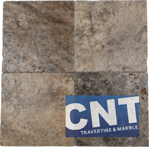 Silver Antique Tumbled Travertine WET